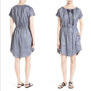 THEORY Linen Cinched Waist Laela Dress